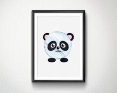 Cute Panda Watercolor Nursery animals prints by BlessLifePrints Cute Panda, Nursery, Watercolor, Unique Jewelry, Handmade Gifts, Prints, Life, Animals, Etsy