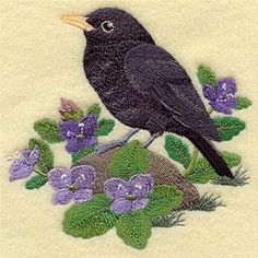 Machine Embroidery Designs at Embroidery Library! - Blackbirds