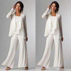 Modest white chiffon lace mother of bride pant suits dresses 2016 cheap long sleeves plus size women formal evening gowns for wedding party mother of the bride pant suits joan rivers malpractice suit from sunnybridal. Plus Size Gowns, Evening Dresses Plus Size, Cheap Evening Dresses, Prom Dresses Online, Dresses 2016, Dress Online, Gowns Online, Mother Of The Groom Suits, Mother Of Groom Dresses