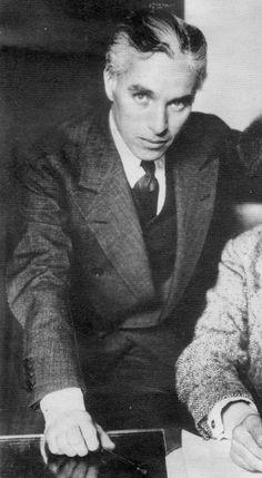 Chaplin without his moustache