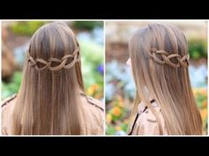 How to Create a Loop Waterfall Braid.  So pretty!  #hairstyles #hairstyle #waterfallbraid #briad #cutegirlshairstyles