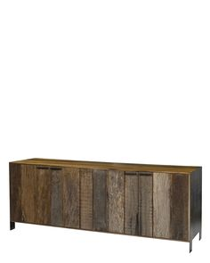 reclaimed wood media console.