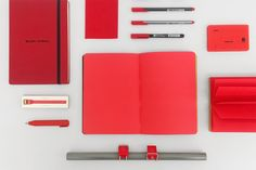 Shades of red   #recipe #journal #notebook #shorty #pencil #praxis #pen #bookman #lights #red #hanitape #memoblock