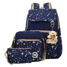 Korean Style Lovely Star Printed Leisure Street Three-Piece Bags