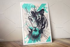 Wild Tiger In Jungles by barsrsind on @creativemarket