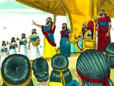 Free Bible illustrations at Free Bible images of Meshach, Shadrach and Abednego refusing to bow down before King Nebuchadnezzar's golden statue, being thrown into a fiery furnace then delivered from it. (Daniel 3:1-30): Slide 3