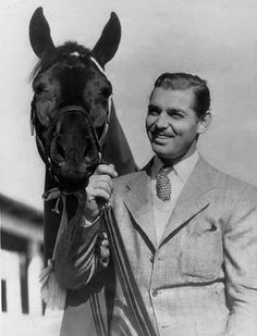Clark Gable and his horse                                                                                                                                                     More