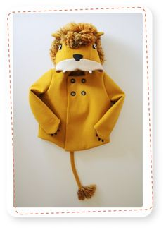 Coaters -animal kids coats. Here the Lion coat.