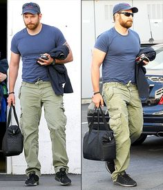 Bradley Cooper debuted a beefier body leaving the Tom Ford store in Beverly Hills on May delicious either way. He's just more man to love on this way. Giddy up! Celebrity Bodies, Celebrity Crush, Tom Ford Store, Dwane Johnson, Chris Kyle, Just Beautiful Men, Cute Celebrities, Celebs, Beefy Men