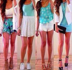 ¡Son perfectos para el verano! Me gusta los colores de azul y blanca
