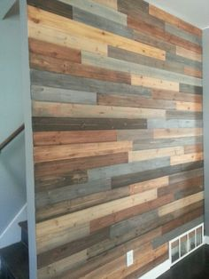 New Bathroom Wood Wall Planks Stains Ideas Wood Plank Art, Wood Plank Walls, Wood Planks, Wood Paneling, Pallet Walls, Faux Wood Wall, Palet Wood Wall, Pallet Wall Bathroom, Diy Pallet Projects