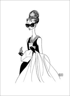 BREAKFAST AT TIFFANY'S Hand Signed by Al Hirschfeld, Audrey Hepburn as Holly Golightly, Limited Edition