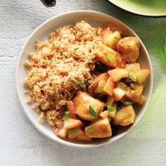 Chicken Curry with Apples and Almond Couscous - Clean Eating magazine - Clean Eating