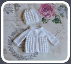 Little Surprise Baby Jacket & Hat Three sizes ~ Newborn, large preemie, medium preemie  Little Surprise Baby Jacket ...