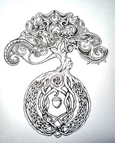 Celtic tree by chaotic-rainbow. on Celtic tree by chaotic-rainbow. Tree Of Life Art, Celtic Tree Of Life, Tree Art, Norse Tattoo, Celtic Tattoos, Indian Tattoos, Tree Tattoo Meaning, Tattoos With Meaning, Viking Symbols