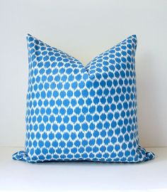 Polka Dots Ikat Modern Decorative Designer Pillow by WhitlockandCo, $40.00
