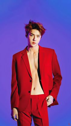 """181207 — Exo to release their Repackage album """"Love Shot"""" on December They started to share photo teaser for their upcoming album with hot pictures of Kai and Sehun in Red 🔥 Checkout their teaser below"""