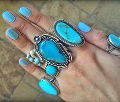 Want all of these turquoise rings
