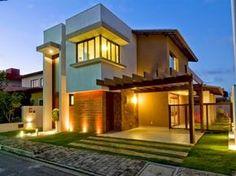 Decor Salteado - Blog de Decoração | Arquitetura | Construção | Paisagismo: Fachadas de casas modernas com paisagismo e iluminação!