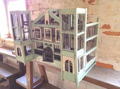 French Wooden Bird Cage by Oobject on Etsy