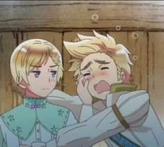 Hetalia (ヘタリア) - Denmark x Norway (DenNor) (デンノル) - they're in a scene together…