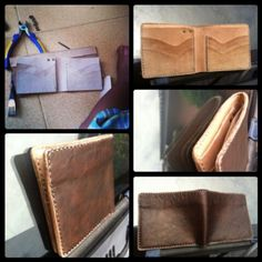 Handmade leather vegetabletanned leather Wallet