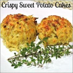 Crispy Sweet Potato Cakes   2 sweet potatoes   1/2 cup egg whites   1 cup Parmesan cheese   1/2 teaspoon rosemary   1/4 teaspoon pepper  Go light on parm cheese for E meal