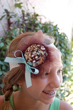 Fluffband A headband made of hand sewn chiffon hand by TutuLand, $18.00