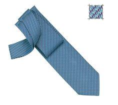 TIE Vague H Hermes heavy silk twill tie, hand-folded, 3.15'' wide