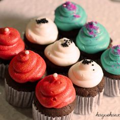 Colorful mini cupcakes!