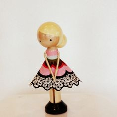 clothes pin doll | CLOTHESPIN DOLL-PUT A  BUN ON THE BACK