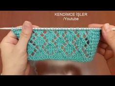 Easy Openwork Diamond Slice Knitting Pattern Construction - Knitting Pattern Making - Y . - Filiz Karakaya - - Easy Openwork Diamond Slice Knitting Pattern Construction - Knitting Pattern Making - Y . Baby Knitting Patterns, Knitting Designs, Knitting Stitches, Web Patterns, Lace Patterns, Stitch Patterns, Knitting Videos, Easy Knitting, Knitting Tutorials