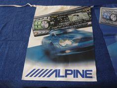 Alpine Car Audio HiFi Mercedes Benz SL 55 500 AMG Dealer Flag Set Very Rare New