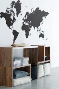 World Map : Remodelista, WallStickers from retailer, Ferm Living
