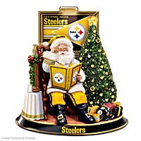 Pittsburgh Steelers Talking Santa Tabletop Centerpiece