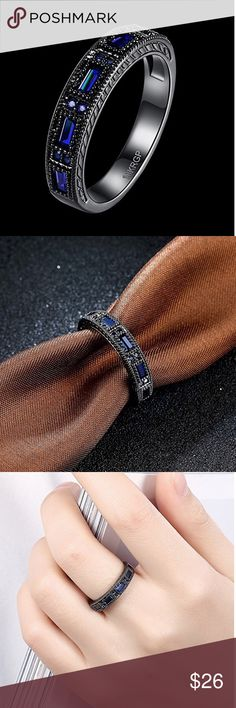 18K Black Gold Princess Ring Black gold plated alloy . Please ask for your size. Price firm unless bundled. Jewelry Rings