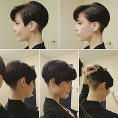 Short Pixie Haircut for Women - Short Hairstyle Trends 2016 Short Pixie Haircuts, Pixie Hairstyles, Short Hairstyles For Women, Summer Hairstyles, Short Hair Cuts, Short Hair Styles, Short Wedge Hairstyles, Hairstyle Short, Hairstyle Ideas