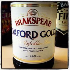 Brakspear Oxford Gold Ale 4.6% ABV - craft brewed with a zesty aroma and a fruity flavour
