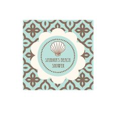 Beach Party Personalized Favor Tags