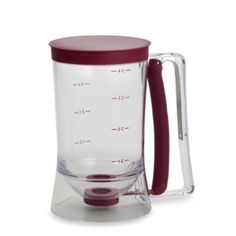 got this --- USED IT FOR CUPCAKES, originally wanted it for pancakes and waffles but it works for lots of other things!