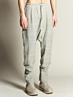 Drop Crotch Drawstring Trousers - Rick Owens