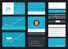 Free High Quality UI Kits in PSD and Vector Format