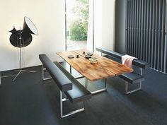 Girsberger Dining Tables, Benches & Chairs: love the look, would be great as a breakfast nook.