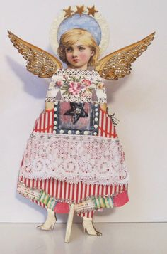 Gerta the Angel            one of a kind art by BonjBonCreations