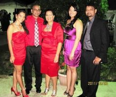 Zaida (centre) with her daughter, Alyea (extreme left); husband, Gregory; daughter-in-law, Annmarie; and son, Reeza