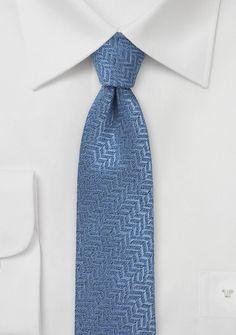 Sky Blue Herringbone Wool Tie