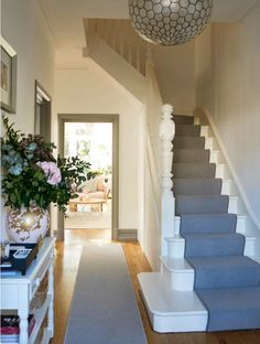 20 Incredible Stair Runner Home Decor House Stairs – hallway Hallway Designs, Hallway Ideas, Hallway Inspiration, House Stairs, Carpet Stairs, Carpet Runner On Stairs, House Entrance, Entrance Hall Decor, Entryway Decor