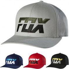 Fox Racing Mens Stack Flexfit Casual Fitted Cap MX Motocross Moto Hat Dirt  Bike Gear 92f6d2e08c2