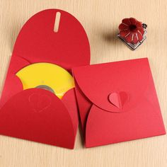 Red Recycled Cardboard CD Sleeve Cases(China (Mainland))