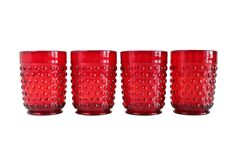 Red Christmas Glasses. Anchor Hocking Red Ruby by HouseOfAndaloo